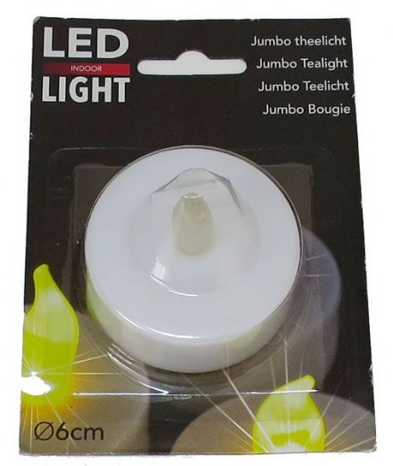 Jumbo LED Tea Light 60mm